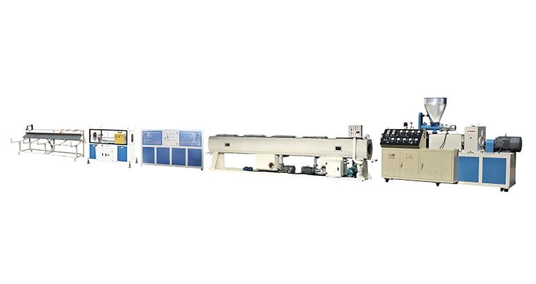 PVC双螺杆大口径管材挤出机生产线