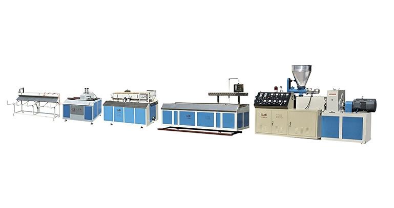 浙江SJSZ系列锥型双螺杆塑料异型材/木塑型材挤出机生产线