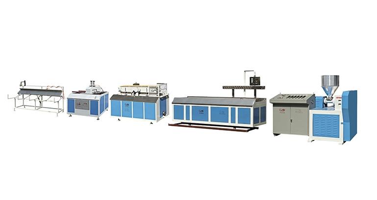 佛山PVC/PS/PE 单螺杆塑料异型材挤出机生产线