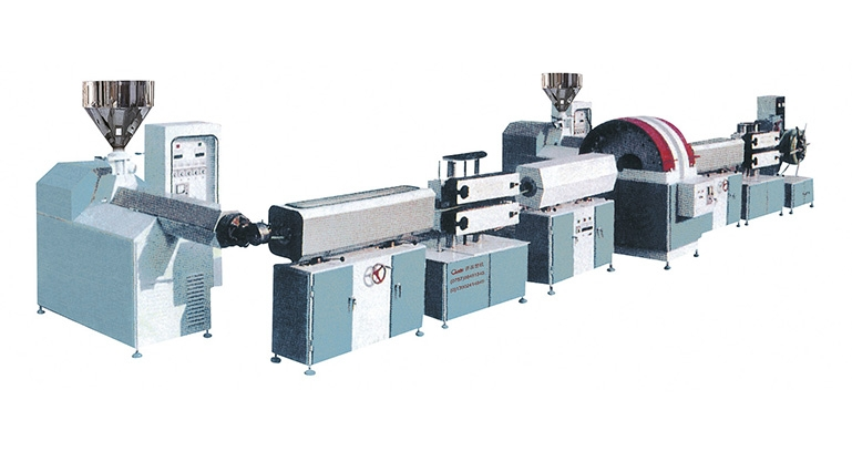 PVC Fibre reinforce transparent flexible extrusion line