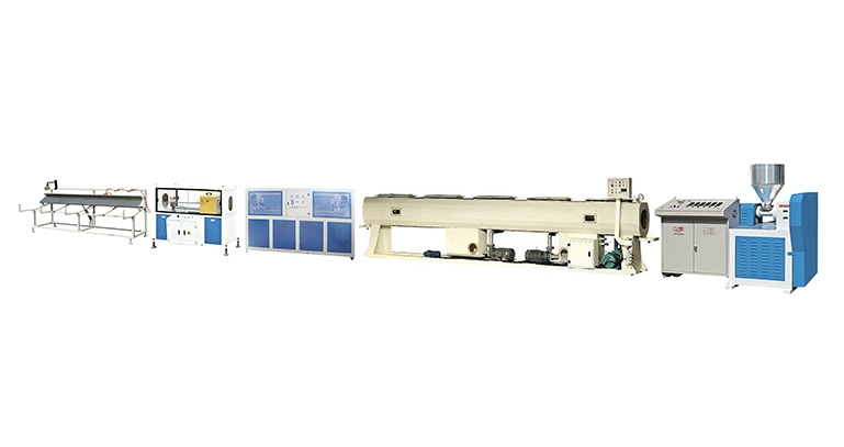 PE/PP/ABS SIngle screw plastic pipe extrusion line